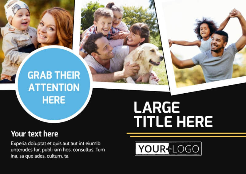 Family Photography Service Postcard Template Preview 2