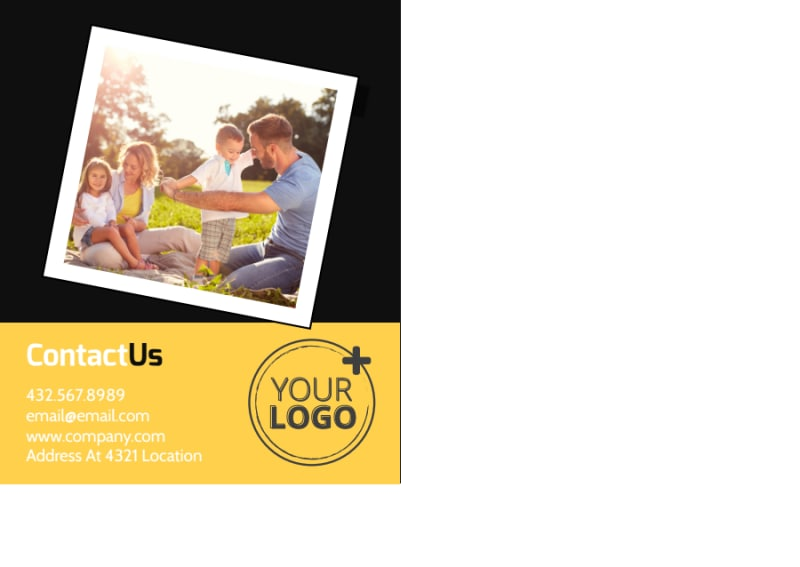 Family Photography Service Postcard Template Preview 3