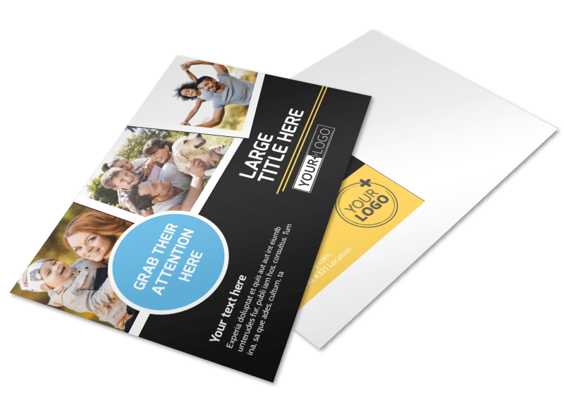 Family Photography Service Postcard Template Preview 1