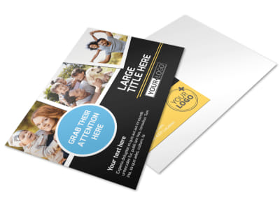 Family Photography Service Postcard Template 2 preview