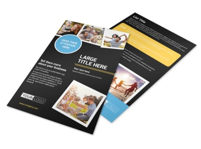Family Photography Service Flyer Template 3