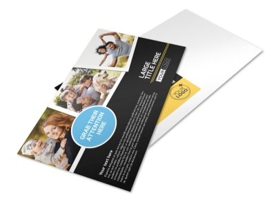 Family Photography Service Postcard Template preview