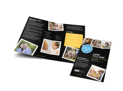 Family Photography Service Bi-Fold Brochure Template preview