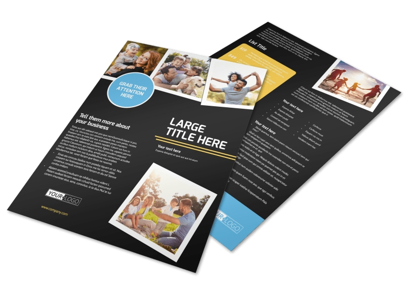 Family Photography Service Flyer Template