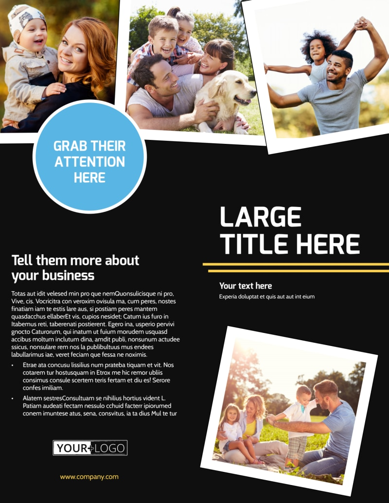 Family Photography Service Flyer Template Preview 2