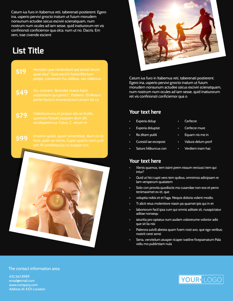 Family Photography Service Flyer Template Preview 3