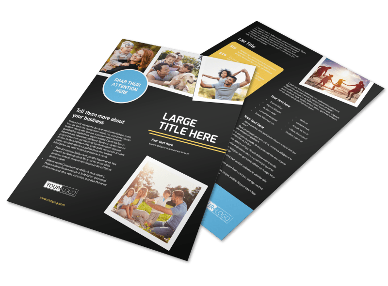 Family Photography Service Flyer Template Preview 1