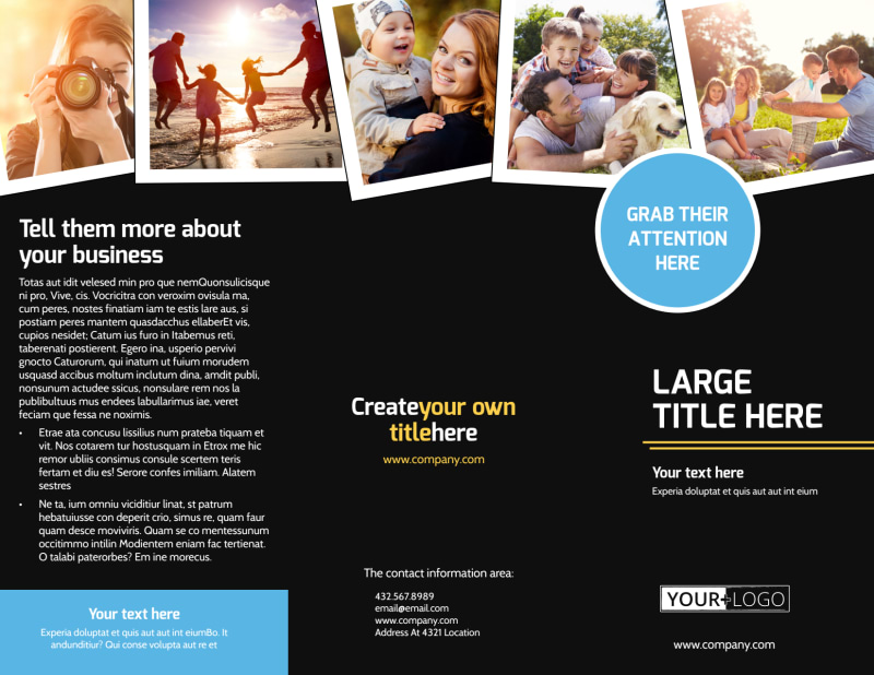 Family Photography Service Brochure Template Preview 2