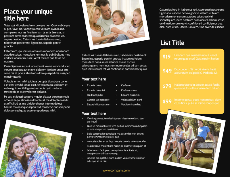 Family Photography Service Brochure Template Preview 3