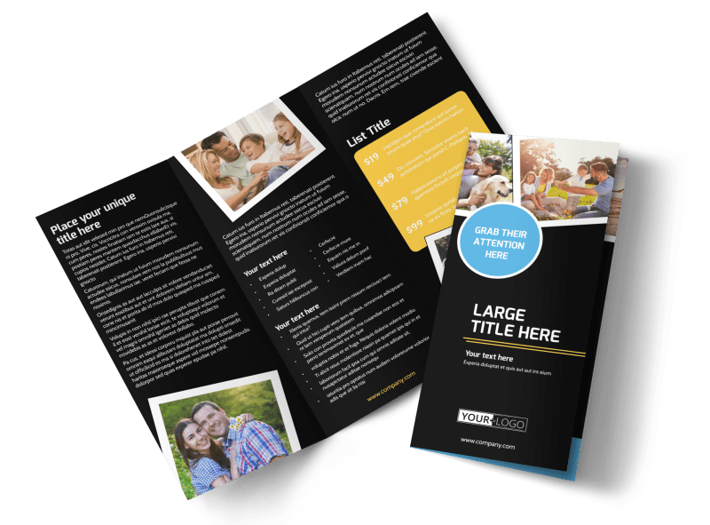 Family Photography Service Brochure Template Preview 1