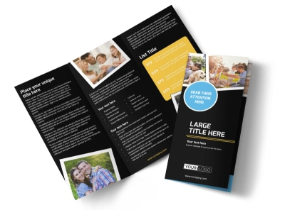 Family Photography Service Tri-Fold Brochure Template preview