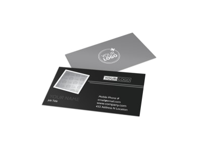 Generic Business Card Template 11371