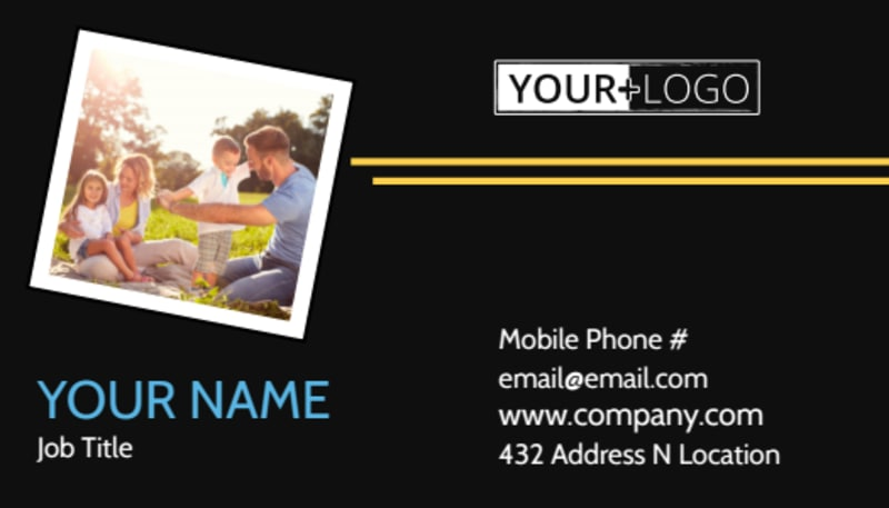 Family Photography Service Business Card Template Preview 2