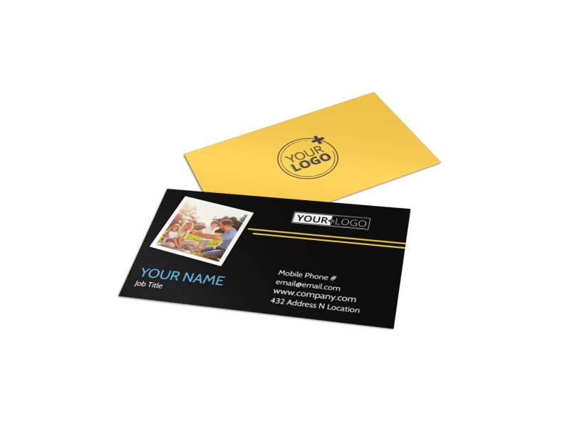 Family Photography Service Business Card Template Preview 1
