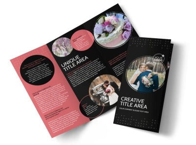 Beautiful Wedding Photography Tri-Fold Brochure Template preview