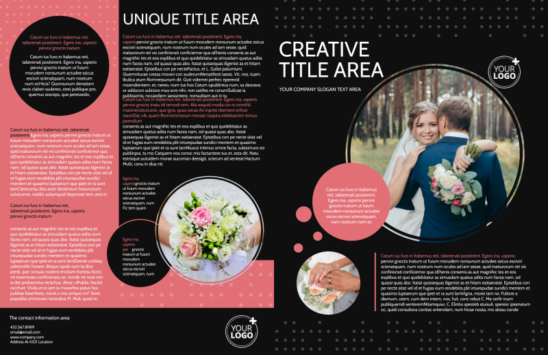 Beautiful Wedding Photography Brochure Template Preview 2
