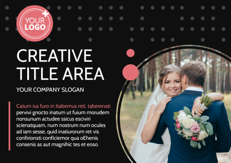 Beautiful Wedding Photography Postcard Template Preview 2