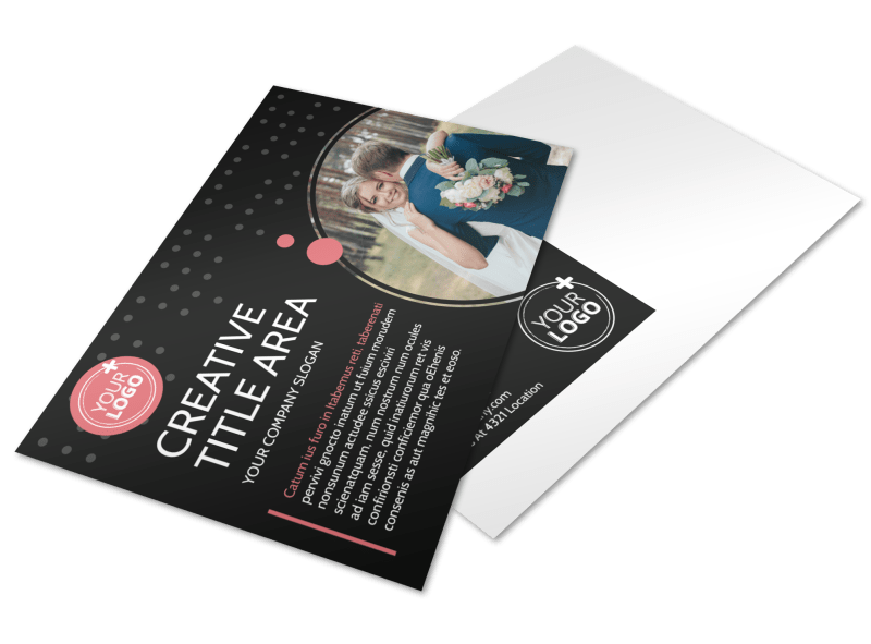 Beautiful Wedding Photography Postcard Template Preview 1