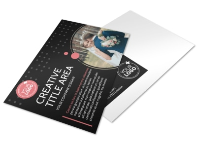 Beautiful Wedding Photography Postcard Template 2 preview