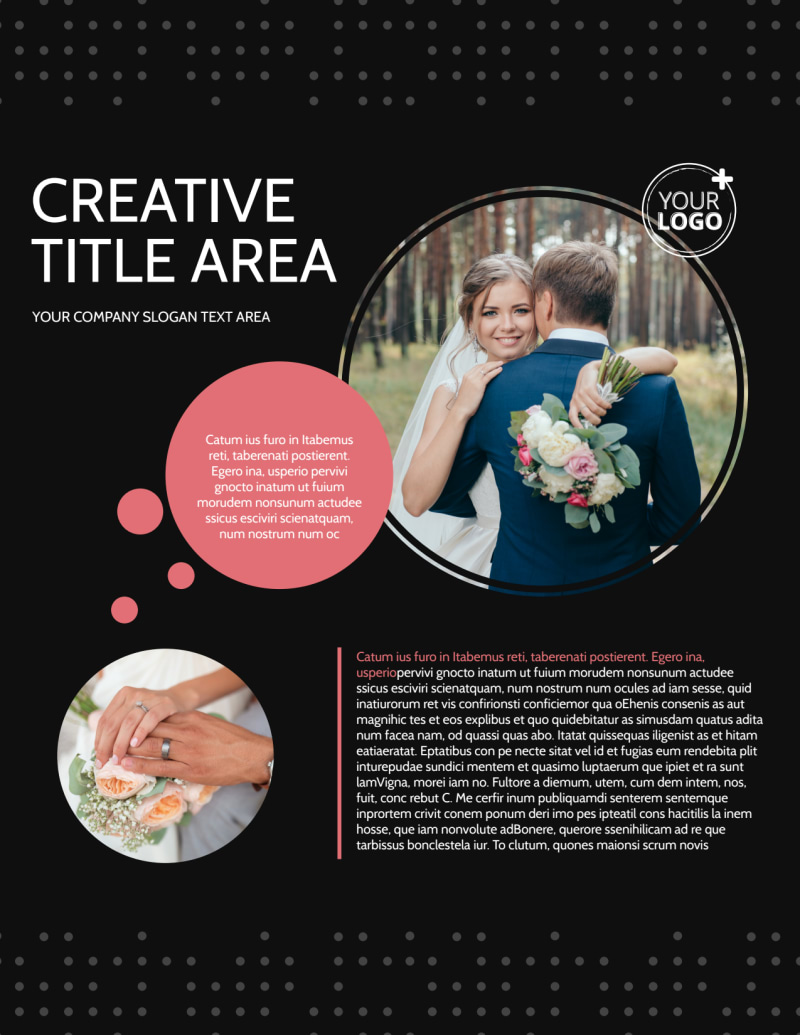 Beautiful Wedding Photography Flyer Template Preview 2