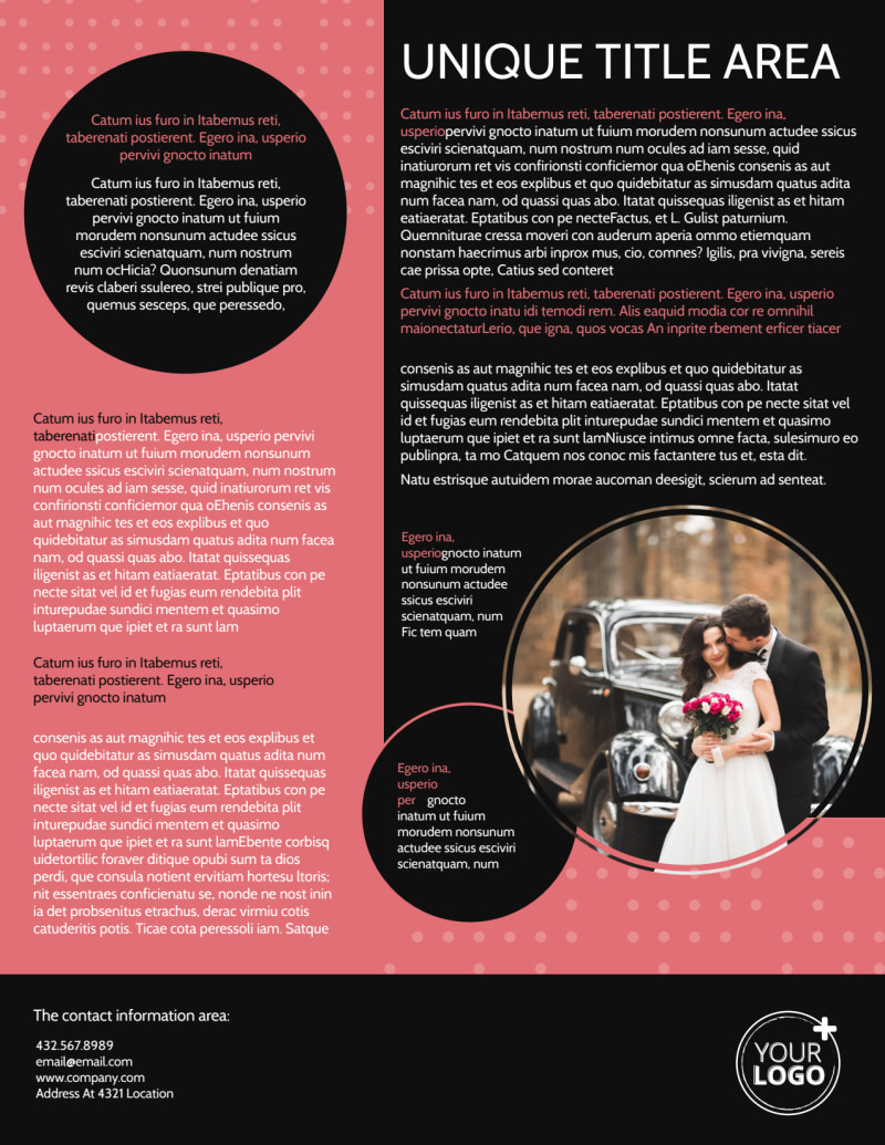Beautiful Wedding Photography Flyer Template Preview 3