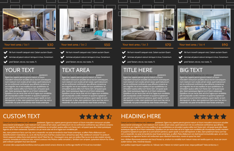 Only The Best Hotels Brochure Template Preview 3