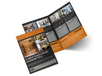 only the best hotels bi fold brochure template 2