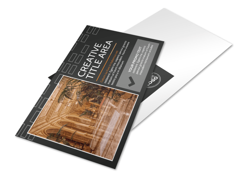 Only The Best Hotels Postcard Template Preview 1