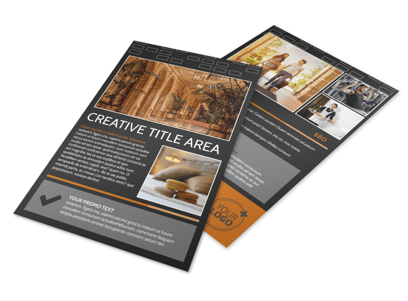 Only The Best Hotels Flyer Template Preview 1