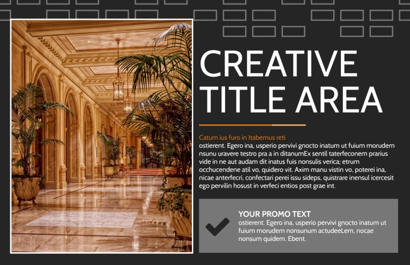 Only The Best Hotels Postcard Template Preview 2
