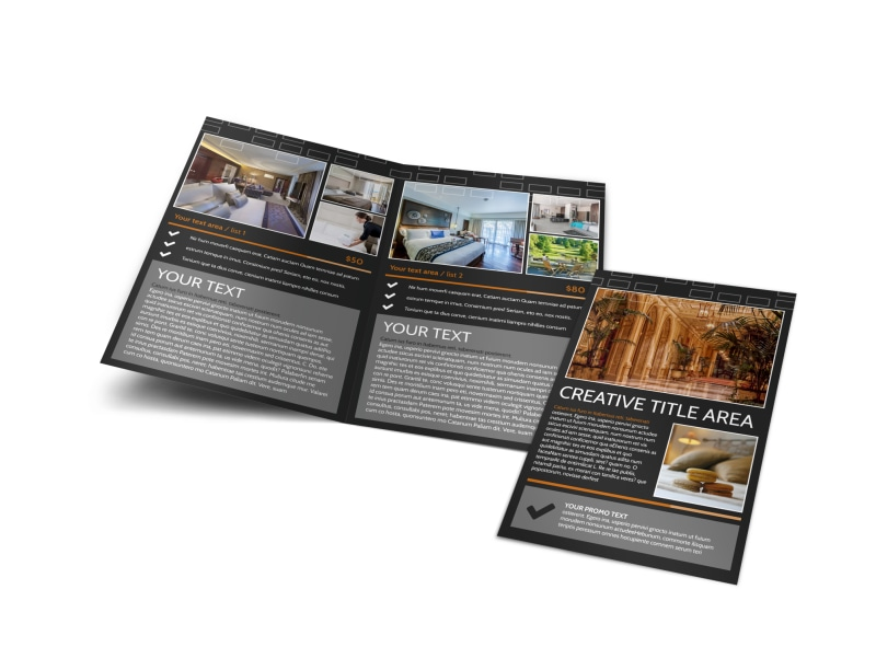 hotel brochure templates - only the best hotels bi fold brochure template