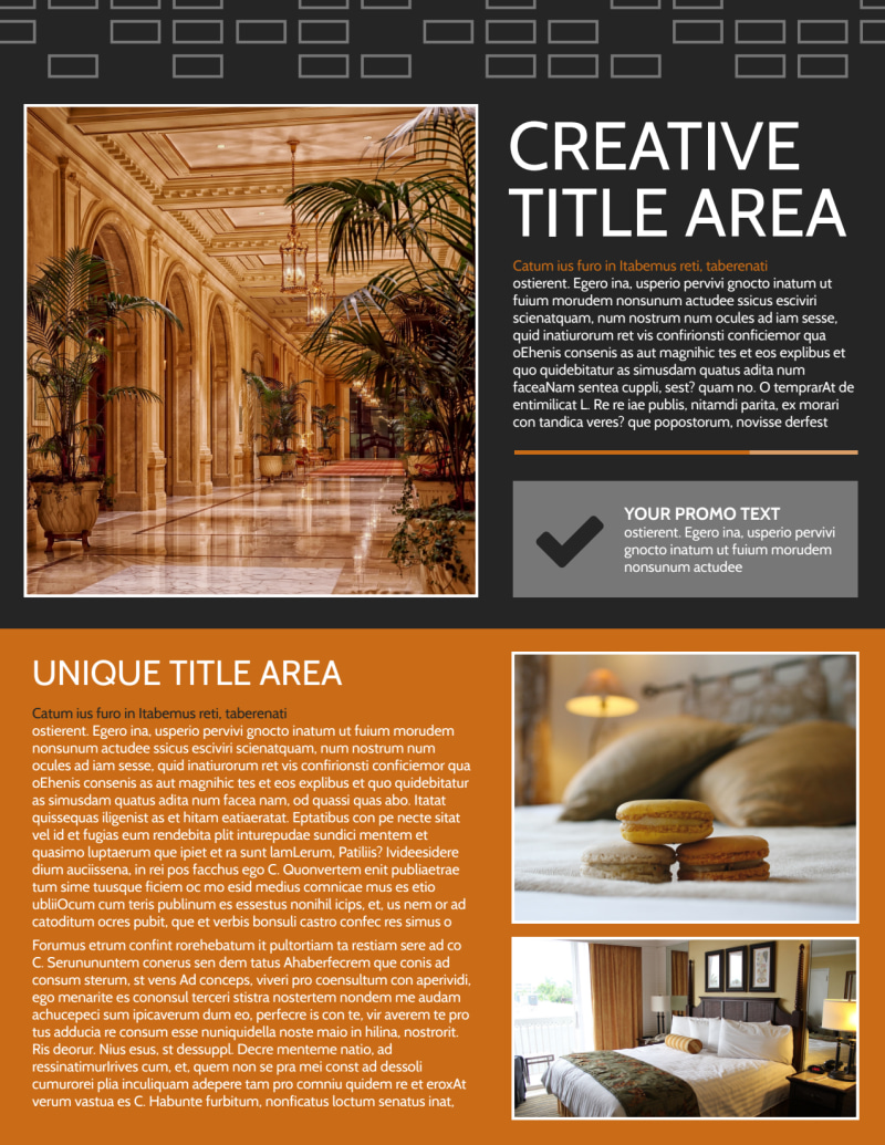 Only The Best Hotels Flyer Template Preview 2