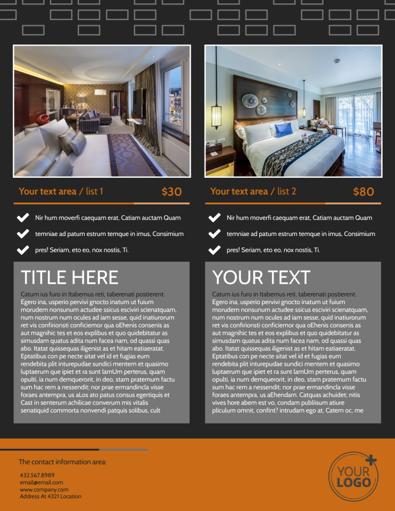 Only The Best Hotels Flyer Template Preview 3