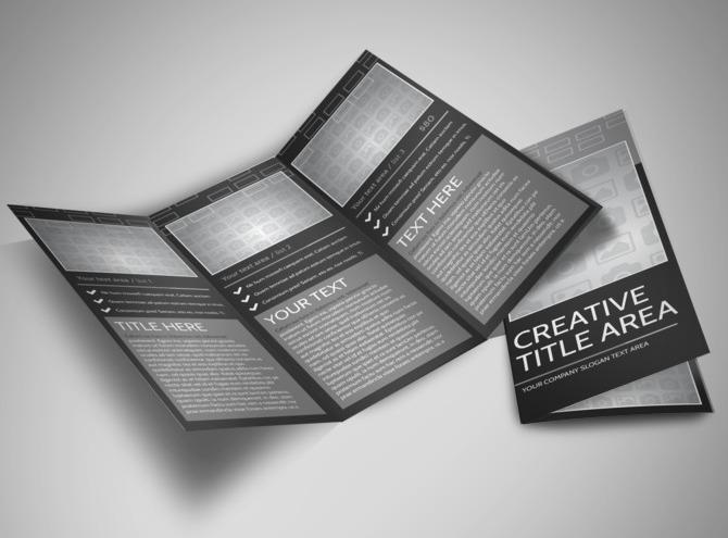Blank Tri Fold Brochure Template