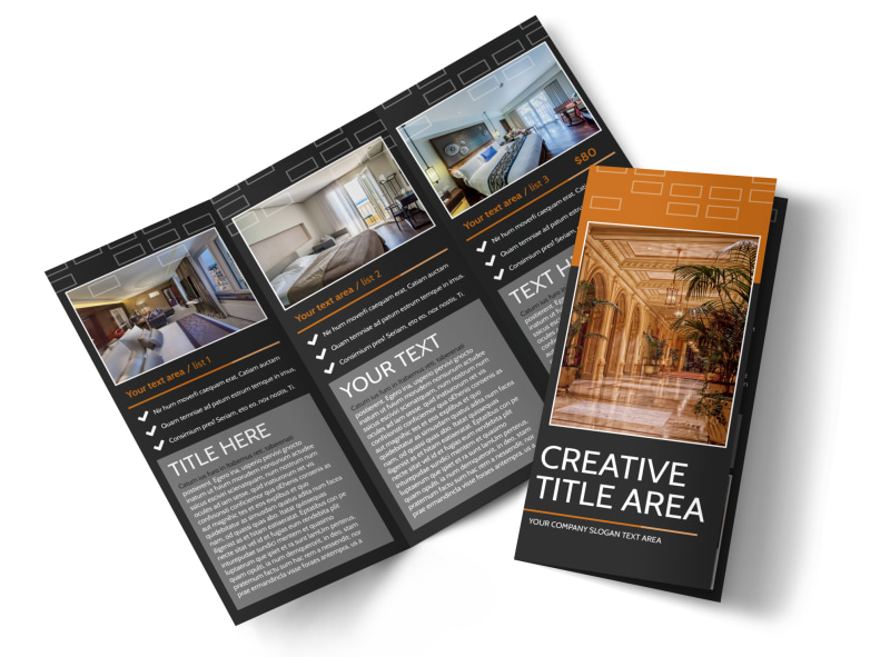 Only The Best Hotels Brochure Template MyCreativeShop - Hotel brochure template