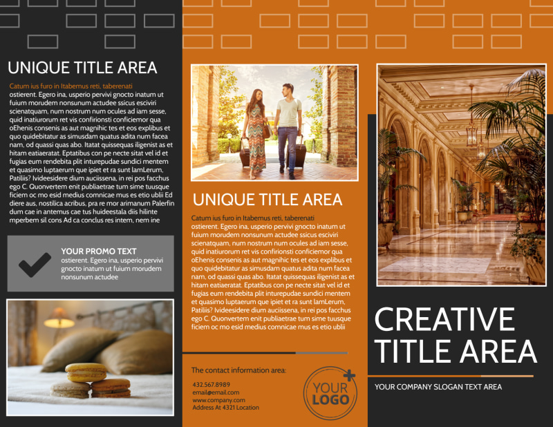 Only The Best Hotels Brochure Template Preview 2