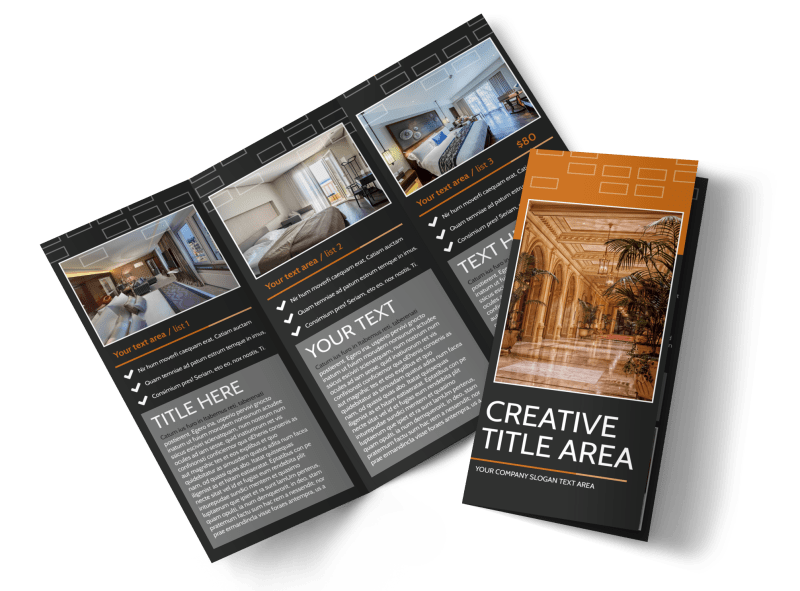Only The Best Hotels Brochure Template Preview 1