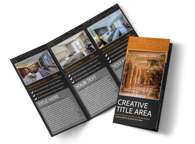 Only The Best Hotels Tri-Fold Brochure Template preview