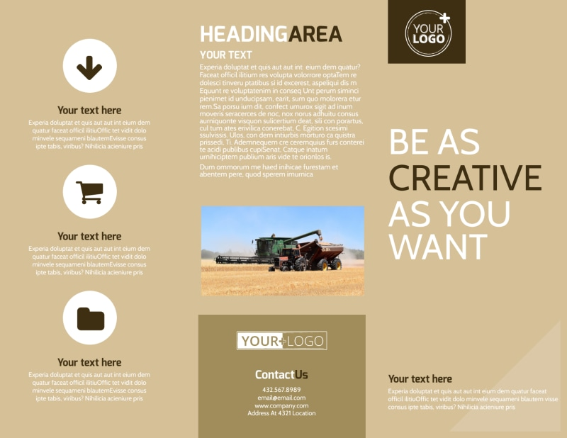 Agriculture Consulting Brochure Template Preview 2