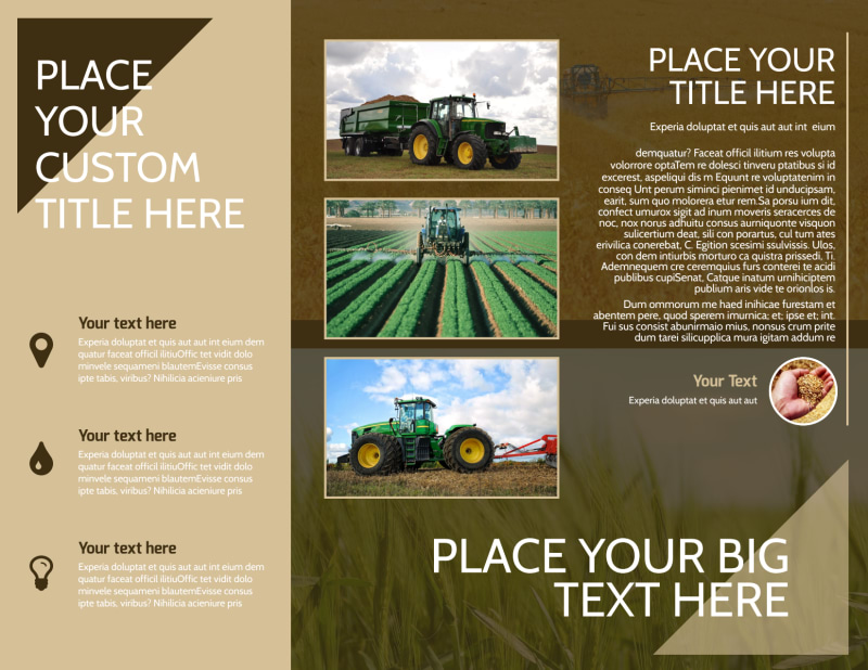 Agriculture Consulting Brochure Template Preview 3