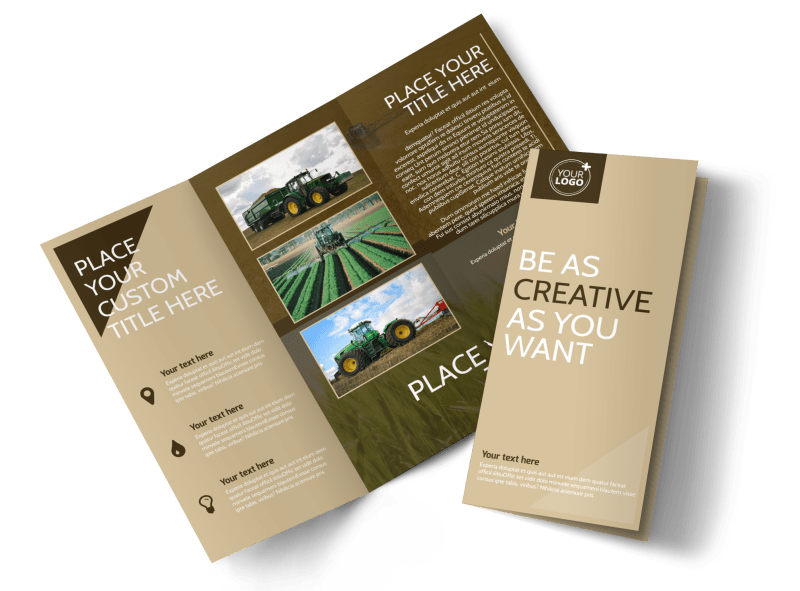 Agriculture Consulting Brochure Template Preview 1