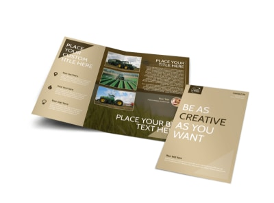Agriculture Consulting Bi-Fold Brochure Template preview