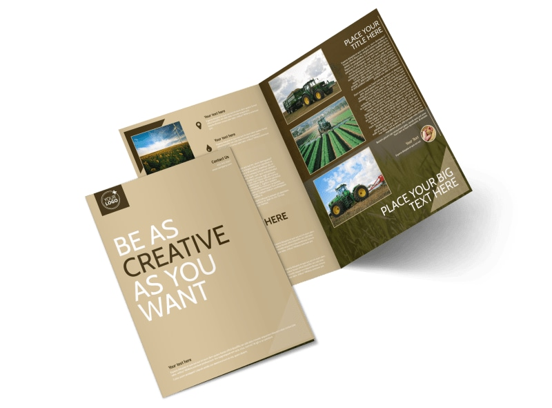 Agriculture Consulting Bi-Fold Brochure Template