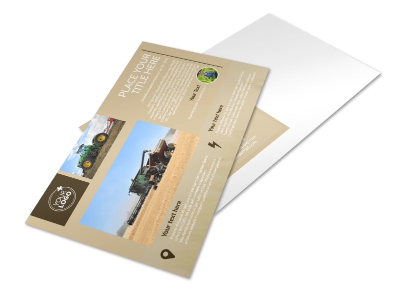 Agriculture Consulting Postcard Template