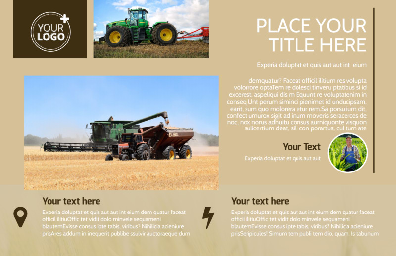 Agriculture Consulting Postcard Template Preview 2