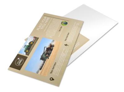Agriculture Consulting Postcard Template preview