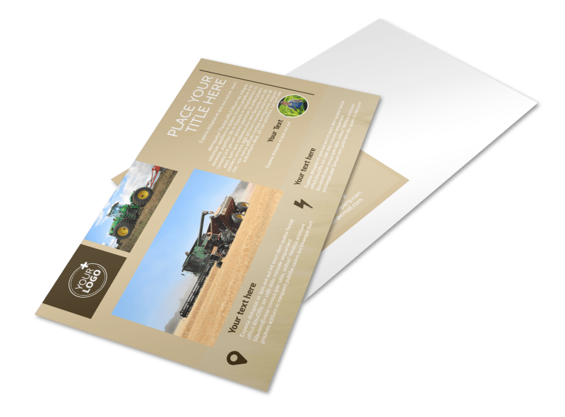 Agriculture Consulting Postcard Template Preview 1