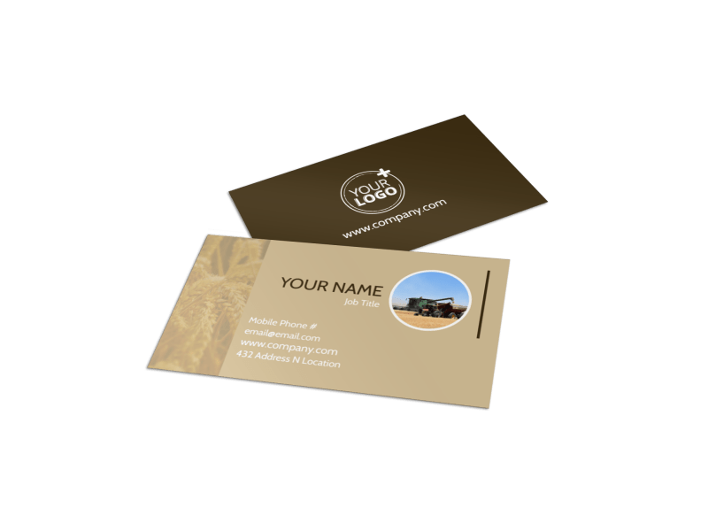 Agriculture Consulting Business Card Template Preview 1