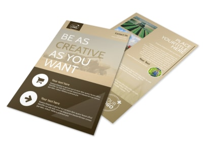 Agriculture Consulting Flyer Template preview