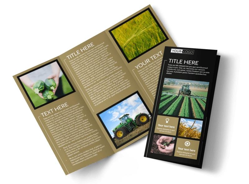 Farm Consultant Tri-Fold Brochure Template